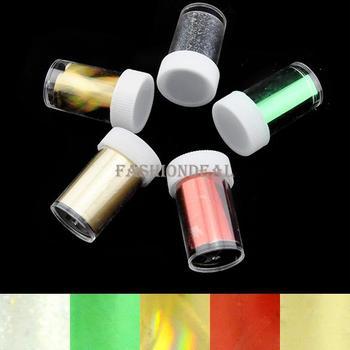 35pcs/lot 2013 New Fashion 5rolls/set Art Adhesive Sticker Nail Transfer Foil Set Tip Decoration 7 Sets Free Shipping 29