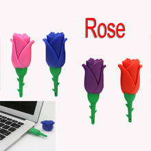 Buy Pendrive 128GB USB Flash Drive 2.0 Memory Stick/thumb 4gb 8g 16g 32g 64g blue/red flower flash pen drive U Disk 16 gb hard disk for $1.32 in AliExpress store
