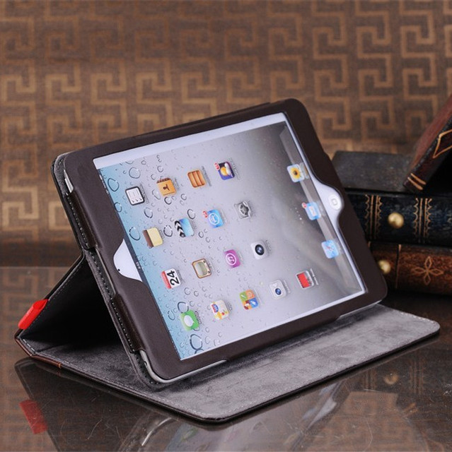Old Book Style Ipad Cover : Luxury retro ancient vintage old flip book style pu