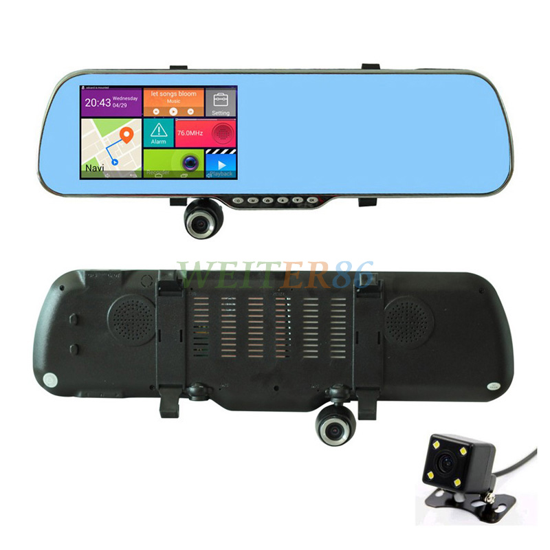 "5.0"" Touch Android GPS WiFi FHD 1080P Dash Camera Parking Rearview Car Mirror Camera Video Recorder Car DVR GPS(China (Mainland))"