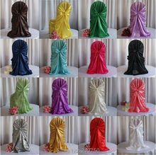 Express Free Shipping 100pcs/lot wedding hotel event party supplies Universal silks and satins fabric chair cover(China (Mainland))