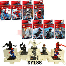 Marvel Spiderman Action Figures Blocks Minifigures Spider Man,Marvel Super Heroes Venom Blocks Figure
