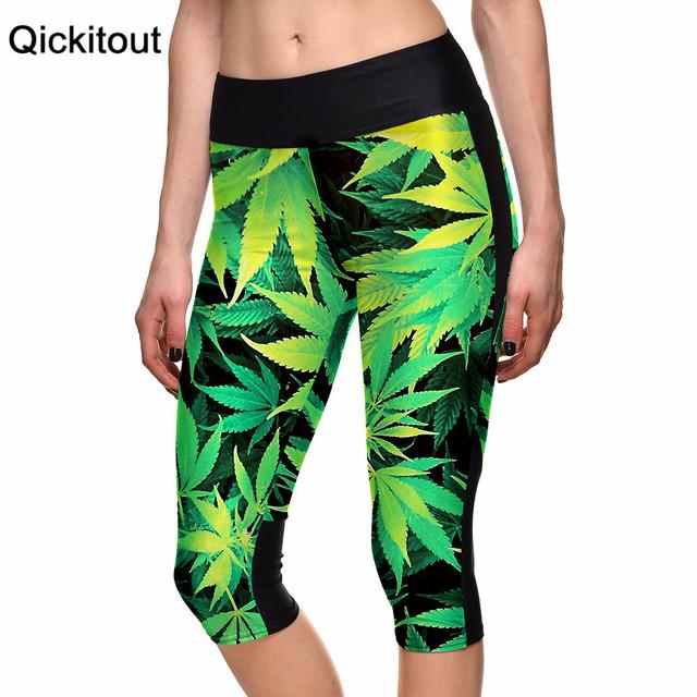 S-xl 2015 сексуальных женщин 7 точка брюки женские леггинсы клен лесных деревьев ...