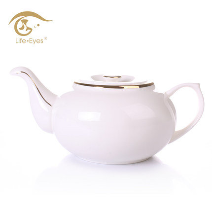 Hotel tea restaurant 850ml white prrocelain special ceramic teapot bone China phnom penh cool hot water kettle teapot flower pot(China (Mainland))