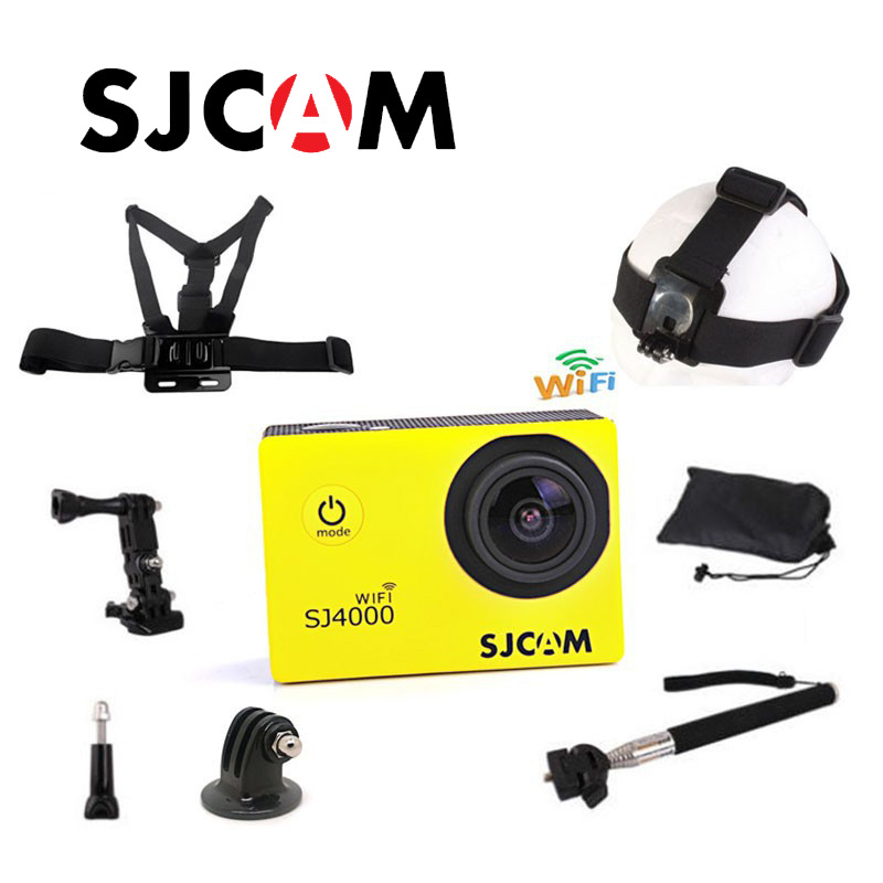 Free shipping!!Original SJ4000 WIFI SJCAM Diving 30M Waterproof Sport Action Cam+Strap Harness Adjustable Elastic Chest Belt<br><br>Aliexpress