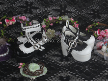 1/4 Bjd doll sd doll shoes black and white classic laciness high-heeled shoes(China (Mainland))