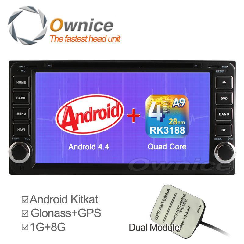 Car DVD GPS + Glonass Player Android 4.4 4 Core Toyota 2 Din Universal Fortuner RAV4 Hilux Vios Camry Prado Corolla Land Cruiser(China (Mainland))