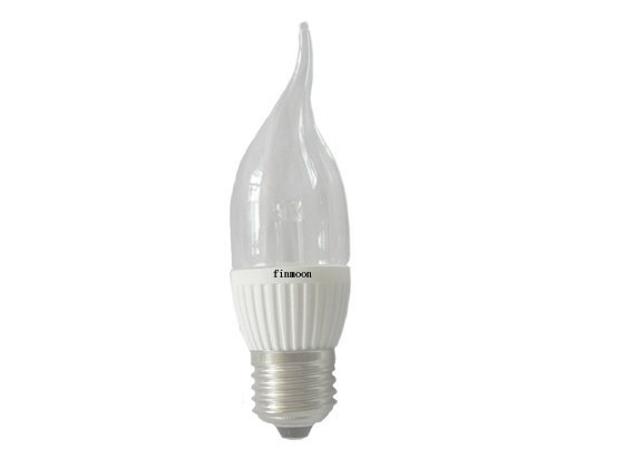 E12/E14/E27 1*1W LED bulb with ceramic housing;37*135mm,AC100-240V input