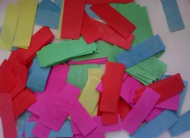 Colorful Fire Retardant Retangular Paper Confetti 2 5cm