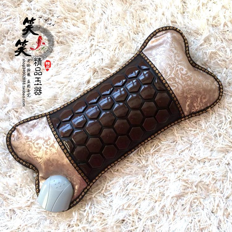 2015 Best Selling Health Care Heating Jade Neck Massager Cushion NEW Heating Cushion Jade Cushion Electric Heated Free Shipping(China (Mainland))