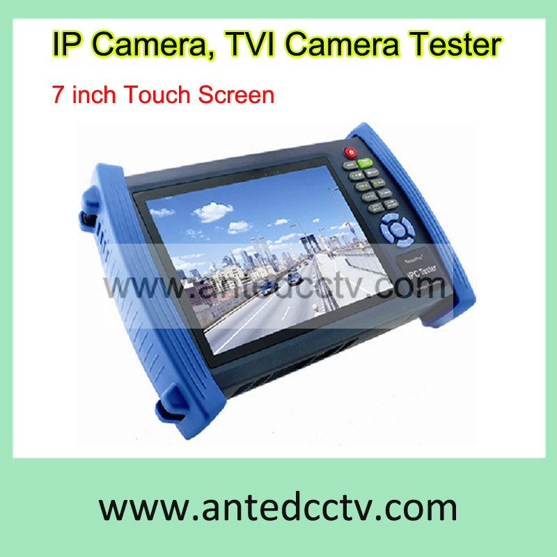 7 Inch Touch Screen Handheld HD-TVI Camera & IP Camera Tester Monitor,hybrid CCTV Security Tester for TVI & IP network camera(China (Mainland))