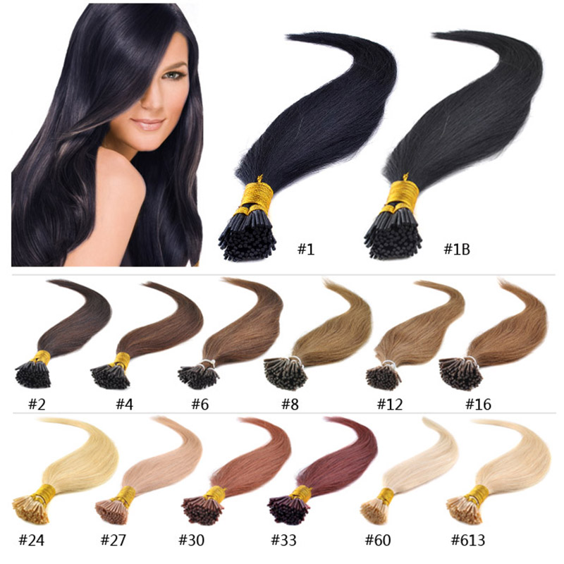 """18"""" 20"""" 22"""" 24"""" 50g/pack pre bonded stick hair I tip Keratin hair extensions 100% Indian Human Remy Hair I Tip Hair Extension(China (Mainland))"""