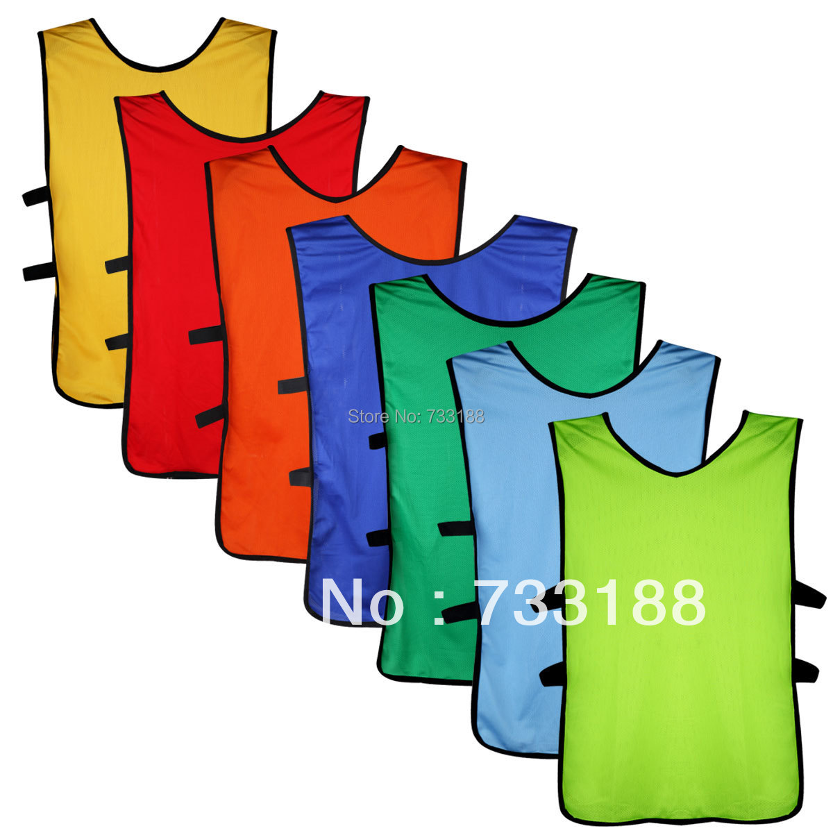 Soccer Football basketball Shirt Lacrosse MENS Scrimmage Training Vests yellow red green blue orange O-192(China (Mainland))