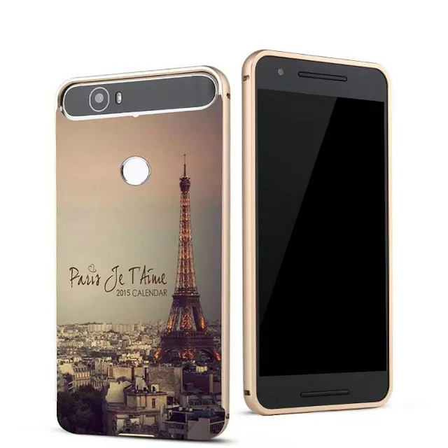 Fashion For HUAWEI Nexus 6P Case Art Printed 3D Back Cover + Aluminum Metal Frame Phone Cases Coque For Google Nexus 6P(China (Mainland))