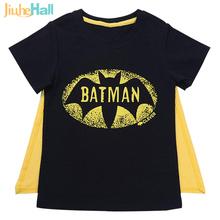 Cartoon  fashion boys Tee Batman Baby boys shirts high quality children's Blackbatman tshirt bambino  WB081
