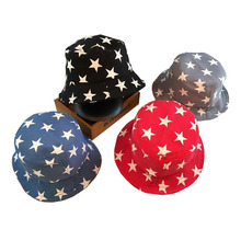 New Stars Print Summer Hats for Kids Multicolor Casual Bucket Hat Baby Cap for 2-6 Years 1 Piece