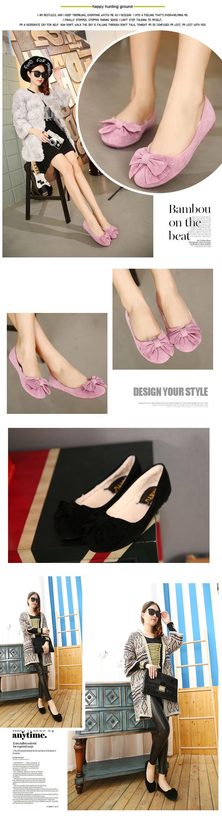 Big Size 35-40 Women Flats Brand PU Leather Ballet Shoes Woman Bow Tie Designer Flats Ladies Mujer