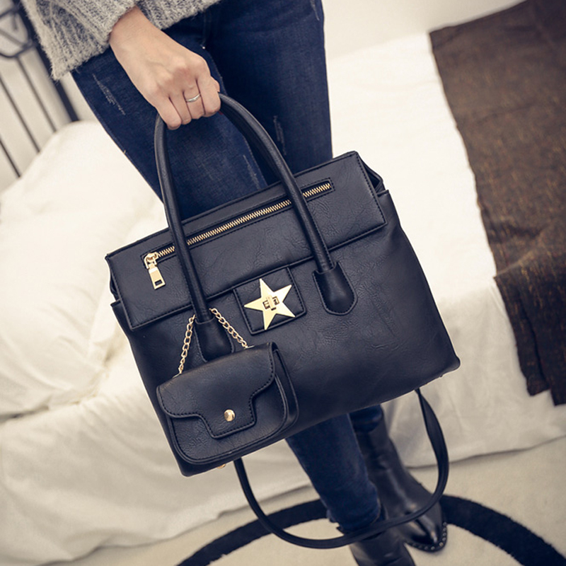 Winter 2016 New Female Fashion Lock Handbag Contracted One Shoulder Bag Joker<br><br>Aliexpress