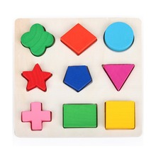 3D Geometric Shape Cognition Classification Matching Board Panels Building Block Wooden Early Educational Toy(China (Mainland))