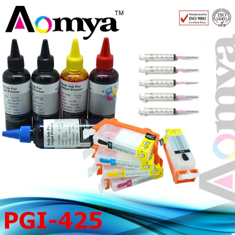 Refill Dye Ink 100ml* 5C  and Cartridge For Canon iP4840 IP4940 IX6540 MG5140 MG5240 MG5340 iX6540 MX884 MX714 MX894<br><br>Aliexpress