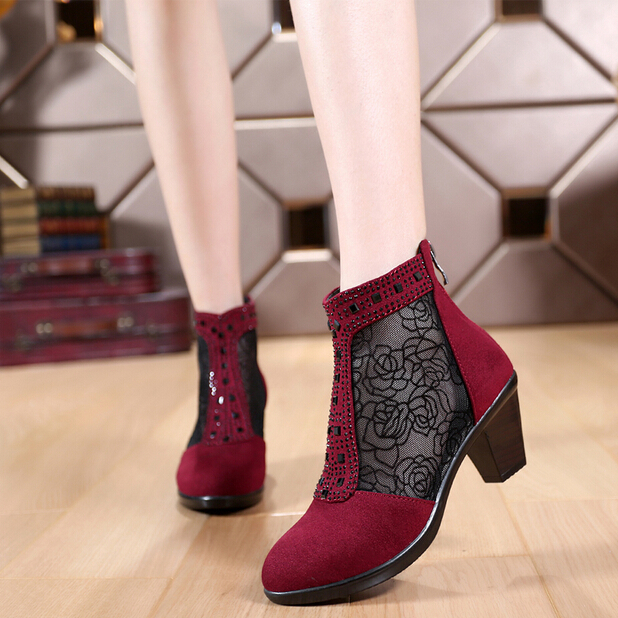 2016 size 32 43 cutout boots genuine leather