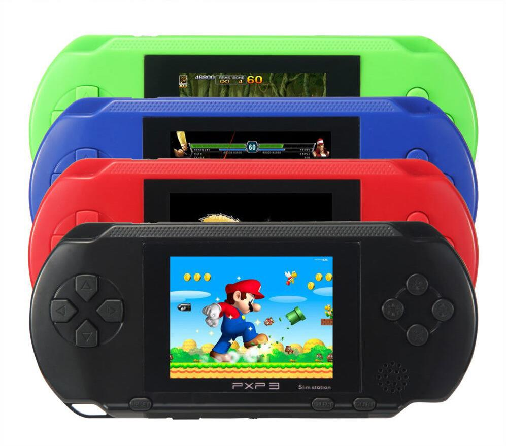 New 16 bit Handheld Game Console PXP3 Slim Portable Video Game Player Bundle 16 Bit 200+ Games(China (Mainland))