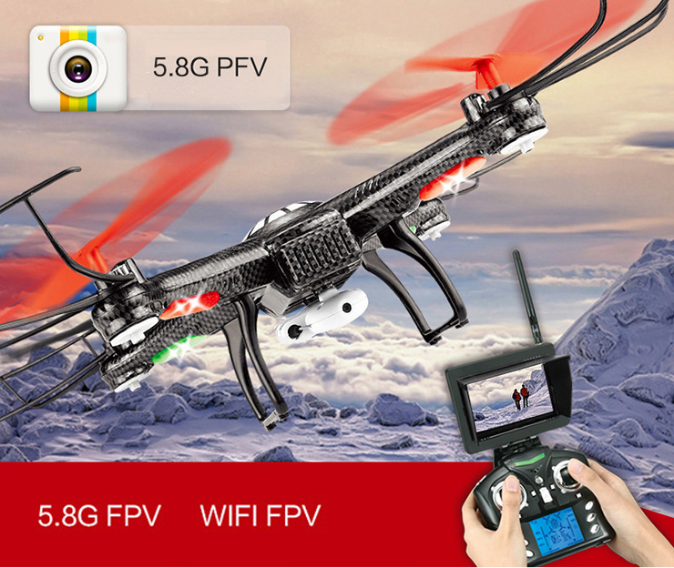 JJRC V686G V686 5.8G FPV Headless Mode RC Quadcopter with HD Camera Monitor