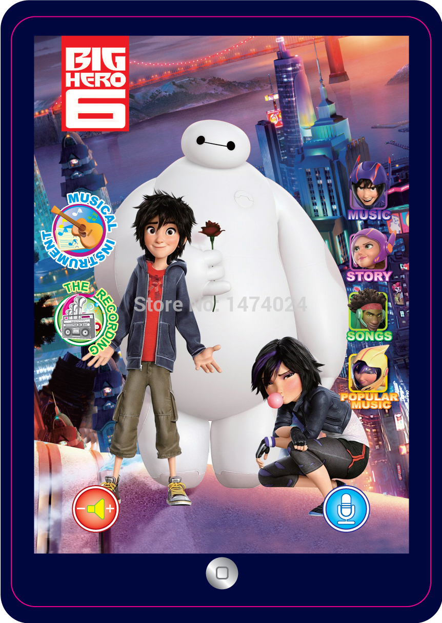 FreeShipping 3D DIY English Language Baymax Toy Pad Tablet Computer Educational Toys For Kid Children's Learning Laptop Juguetes(China (Mainland))