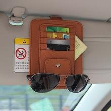 Sun Visor Multifunction PU Car Card Package Holder Glasses Storage Pen Organizer Car Hanging Bag Auto Tidying Accessories Pocket(China (Mainland))