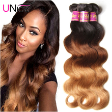 7A Unprocessed Ombre Virgin Hair Brazilian Body Wave #1B/#4/#27 Ombre Brazilian Hair Weave 3 Bundles Ombre Human Hair Extensions(China (Mainland))