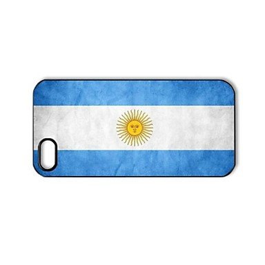 Flag of Argentina Hard Plastic Back Cover Case for iPhone Phone 5 and 5s(China (Mainland))