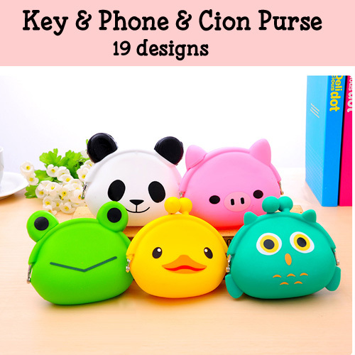 Cute Cartoon Animals Silicone Coin Purses Candy Color Hasp Rubber Money Bag Mini Pouch Cheap Wallets 20 Designs - Luxury Discount store
