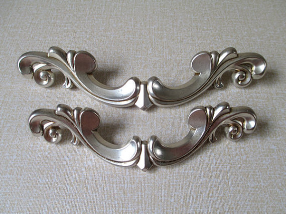 Drawer Pulls Handles Antique Silver Rustic Kitchen Cabinet Handles