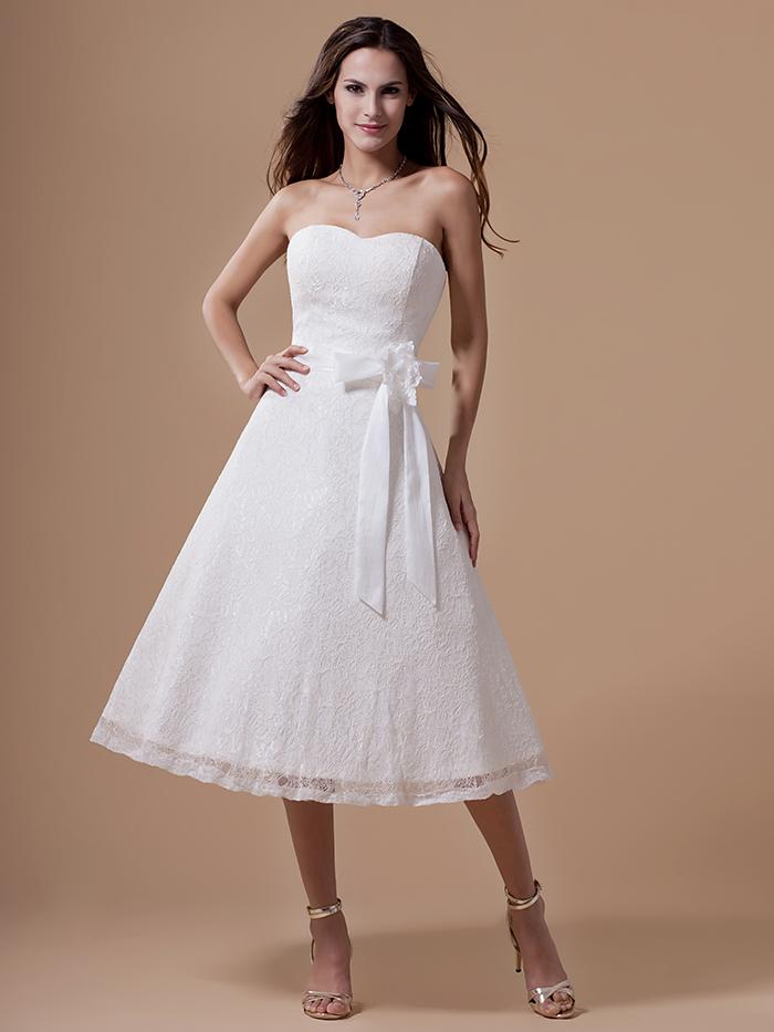 Lace informal wedding dress buy cheap lace informal wedding dress