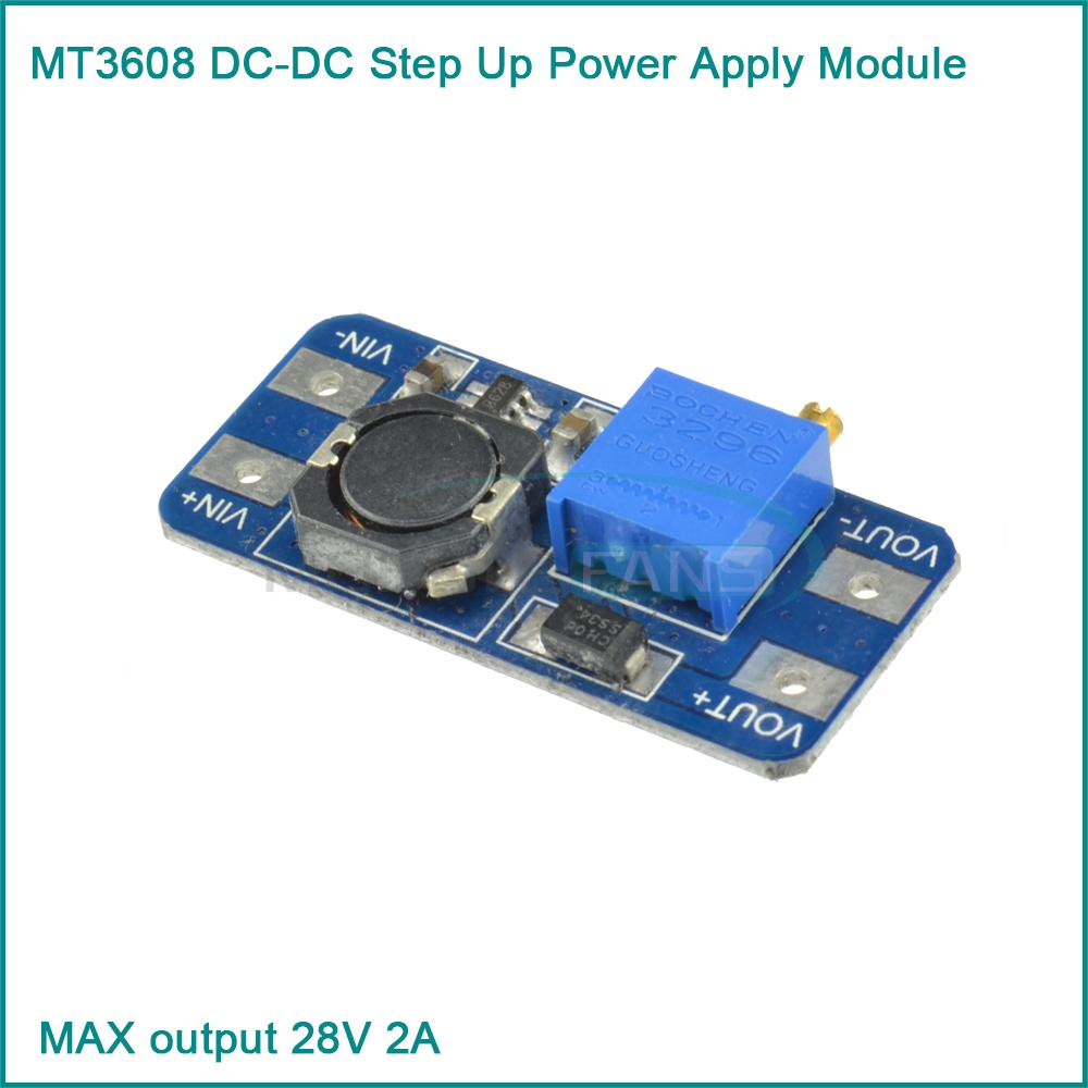 MT3608 DC DC Step Up Power Apply Module Booster Power Module MAX output 28V 2A