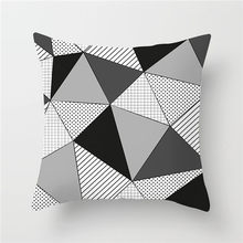 Fuwatacchi Geometric Style Cushion Cover Arrow Plain Dot Wave Printed Pillow Cover Black White Decorative Pillows For Sofa Car(China)