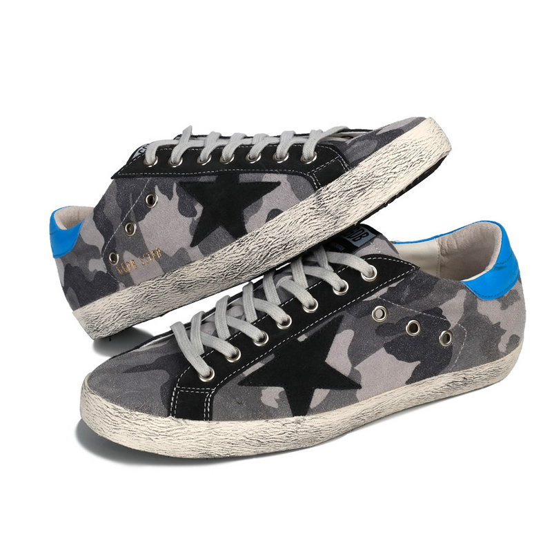 2015 New Italy Golden Goose Deluxe Brand Women Men GGDB Superstar Sneakers,Fashion Low Lace Up Flat Camouflage Shoes,EUR 36-43