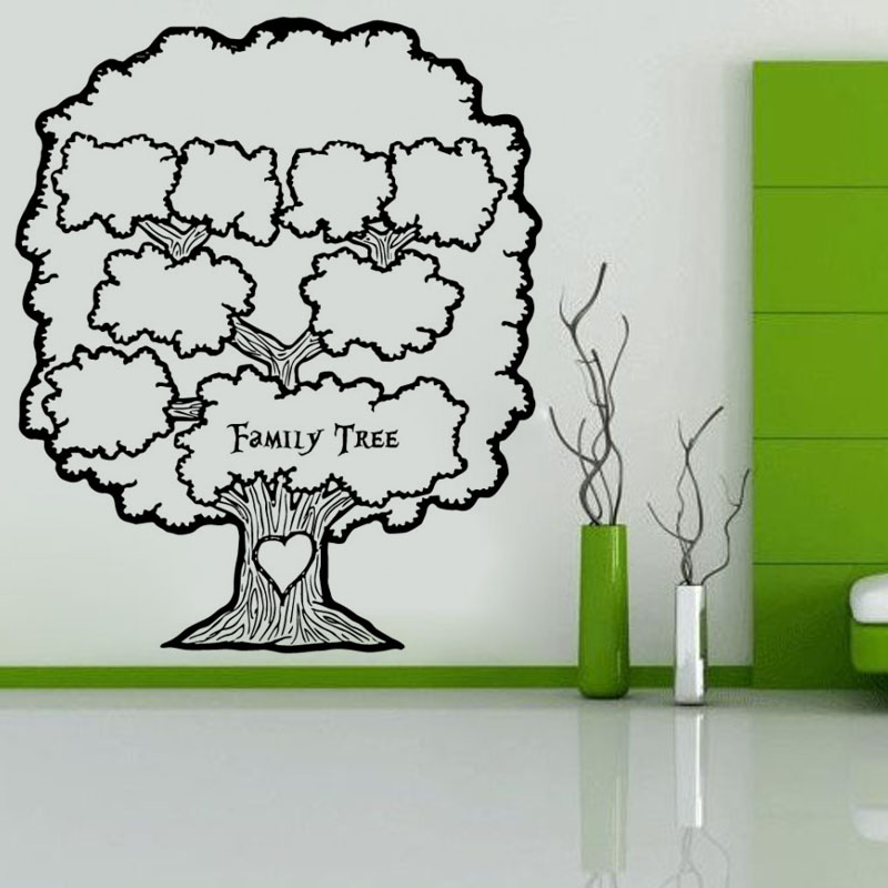 Hot Sale Living Room Family Tree Wall Photo Frame Sticker Vinyl Art Creative Wall Decal(China (Mainland))