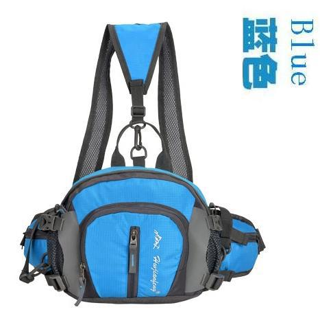 Large capacity outdoor bag waterproof multifunctional ride water bottle waist pack male Women hiking sports travel(China (Mainland))