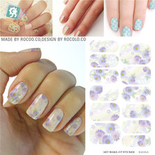 Nail Design styling tools Tools Patch Full Cover nail sticker Elegant the flowers Pattern Water nail sticker adhesive foil