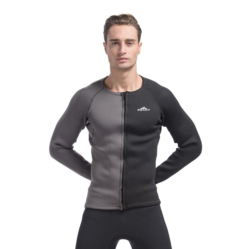 SBART 3MM Neoprene Wetsuit Men Top Long Sleeve Neoprene Surf Rash Guard Jacket For Diving Surfing Swimming Clothe Keep Warm N734<br><br>Aliexpress