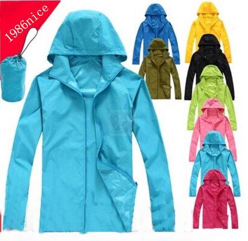 Men and women Quick Dry Rain Jacket Anti-UV Sun Protection Sport UV Protection(China (Mainland))