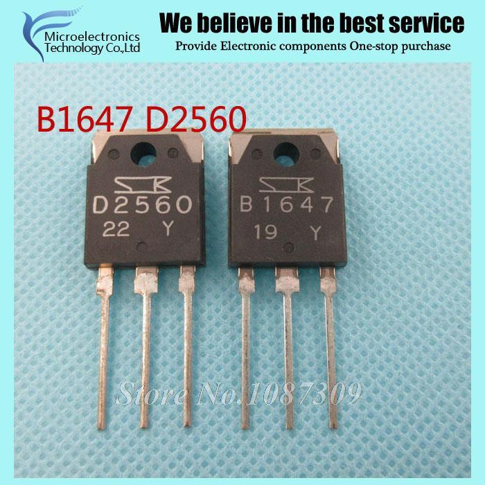 10PCS free B1647 D2560 2SB1647 2SD2560 (5PCS* B1647+5PCS* D2560 ) amplifier pair tube new original