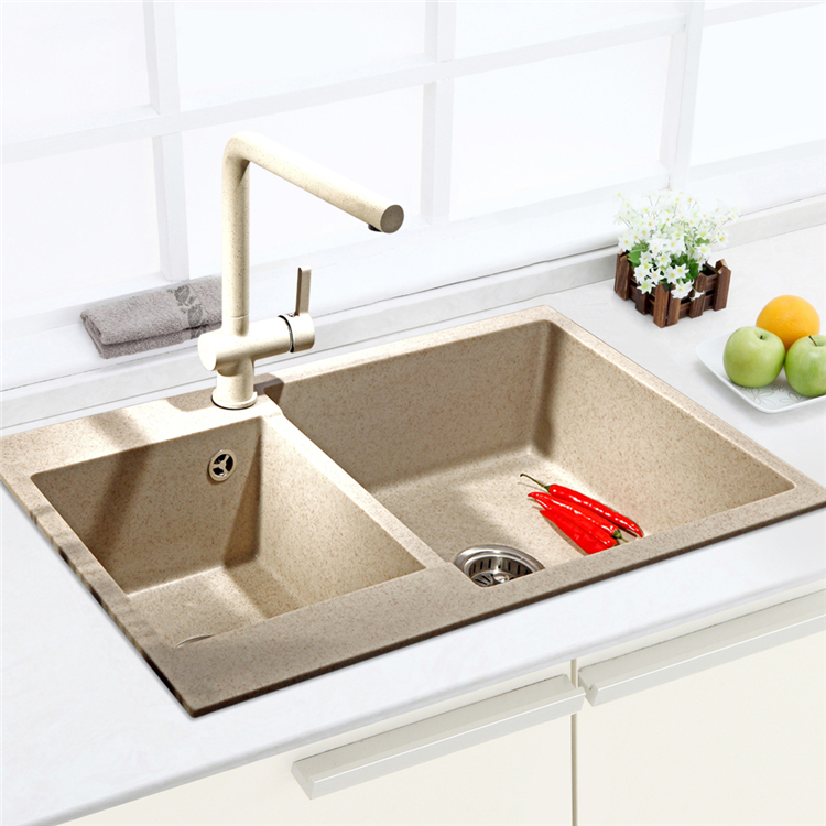 Quartz Stone Kitchen Sink : Germany Bo Luo gram double slot quartz stone granite kitchen sink sink ...