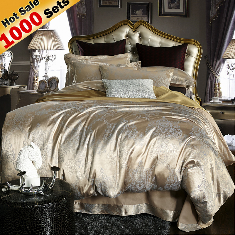 Bedding set Silk Jacquard Duvet Cover set 3-4pcs bed linen bed set(Duvet Cover Bed sheet Pillow) Queen King Free Shipping by UPS(China (Mainland))