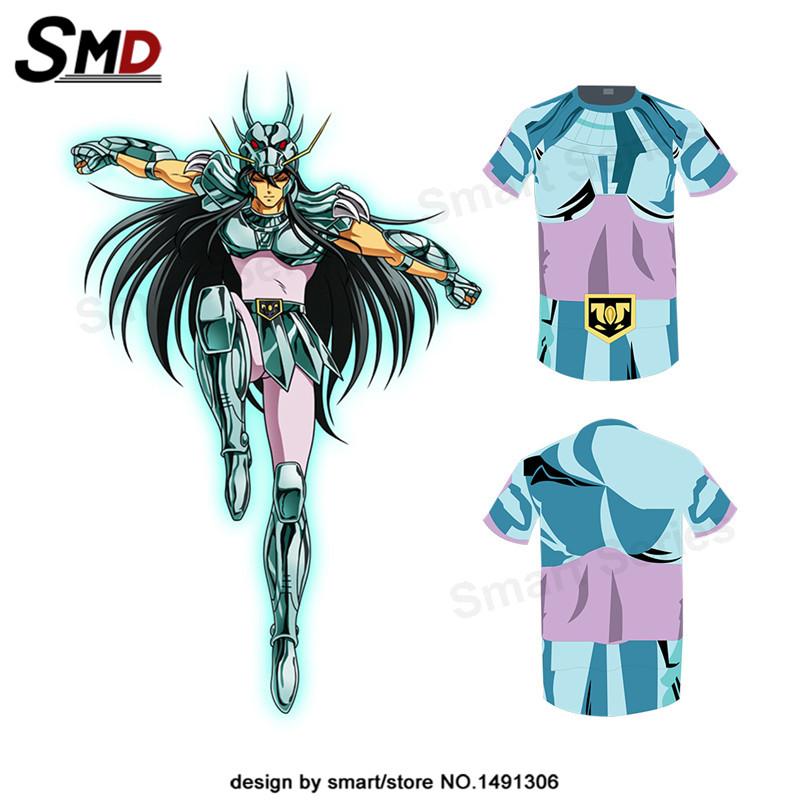 Summer Dress 2016 New Men T Shirts Saint Seiya Bronze Saint Phoenix Ikki Tee Cosplay Costume Shiryu Short Sleeve Tracksuit XXXXL(China (Mainland))
