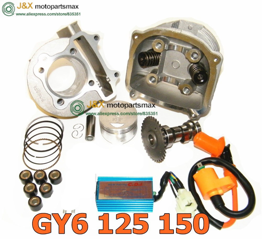 GY6 150 High Performance Big Bore GY6 150cc Big Bore Cylinder, Piston, Rings, & Head with Gaskets(China (Mainland))