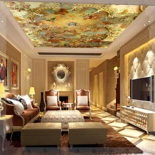 Suspended ceiling murals wallpapers large photo wallpaper for Kitchen dining room wallpaper