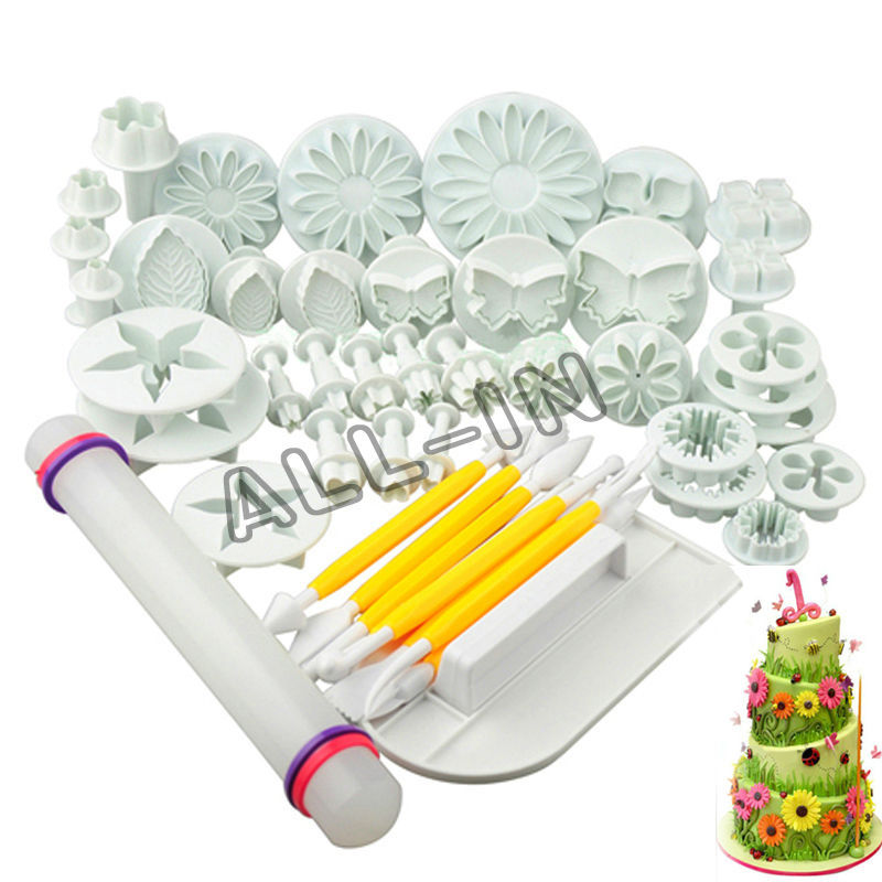 new 46pcs fondant cutter fondant cake decorating tools cake tools