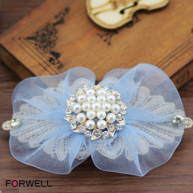 2016 new arrival hair accessories for famale handmade bow hairpin bow hair clip silk yarn First flowers hair ornaments(China (Mainland))